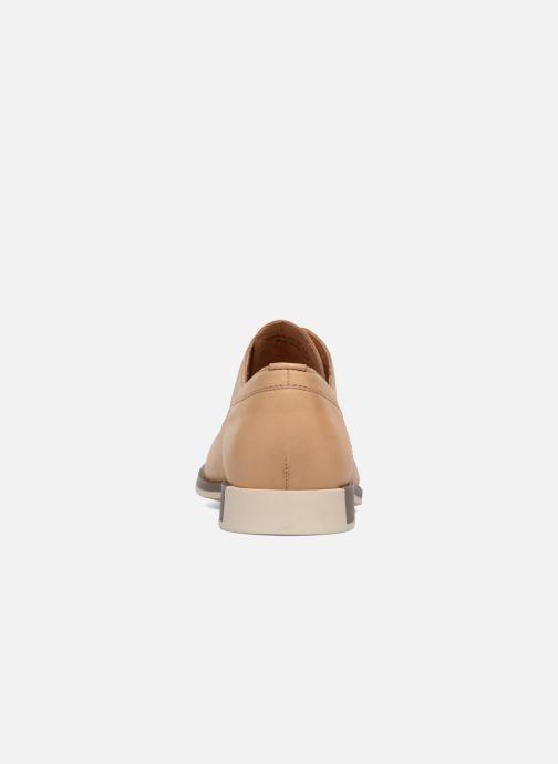 Chaussures à lacets Camper Bowie Beige vue droite