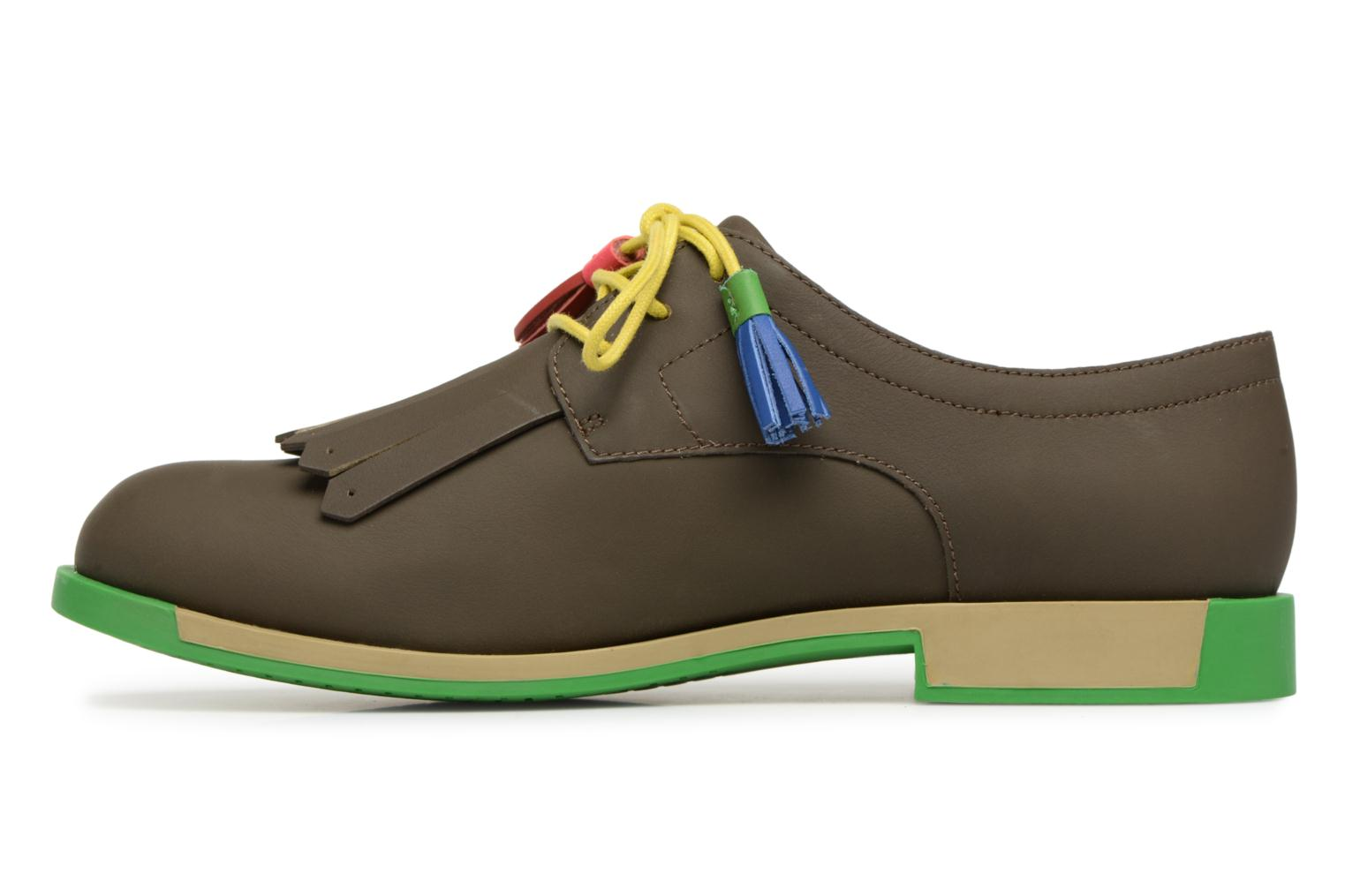 Lace-up shoes Camper TWS K200401 Brown front view