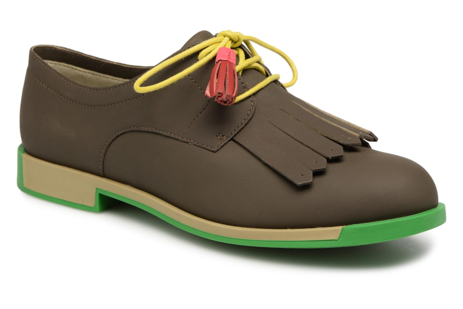 Lace-up shoes Camper TWS K200401 Brown detailed view/ Pair view