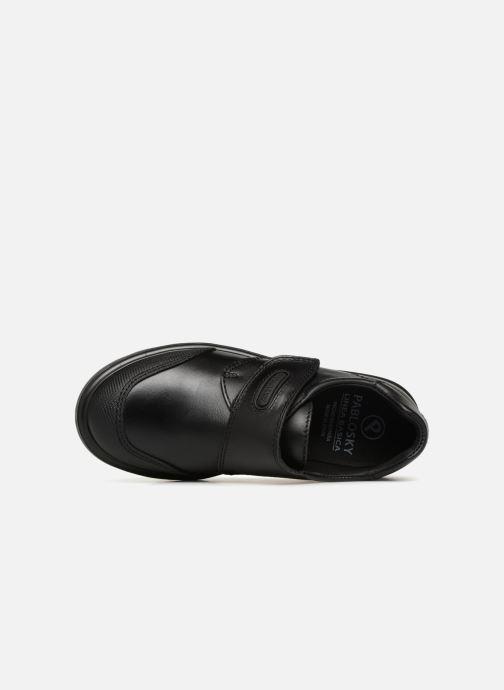 Chaussures à scratch Pablosky Mariano Noir vue gauche
