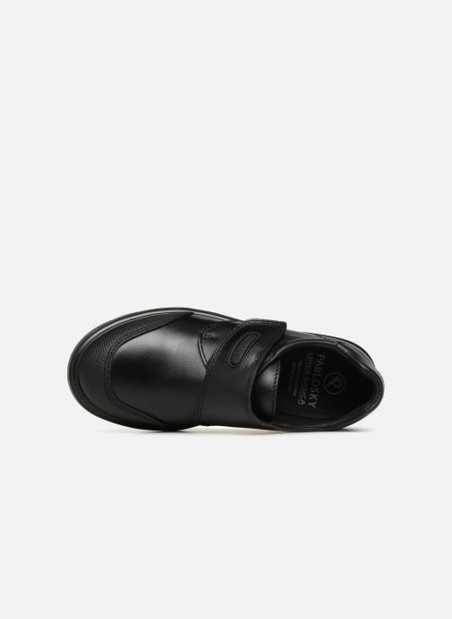 Zapatos con velcro Pablosky Mariano Negro vista lateral izquierda