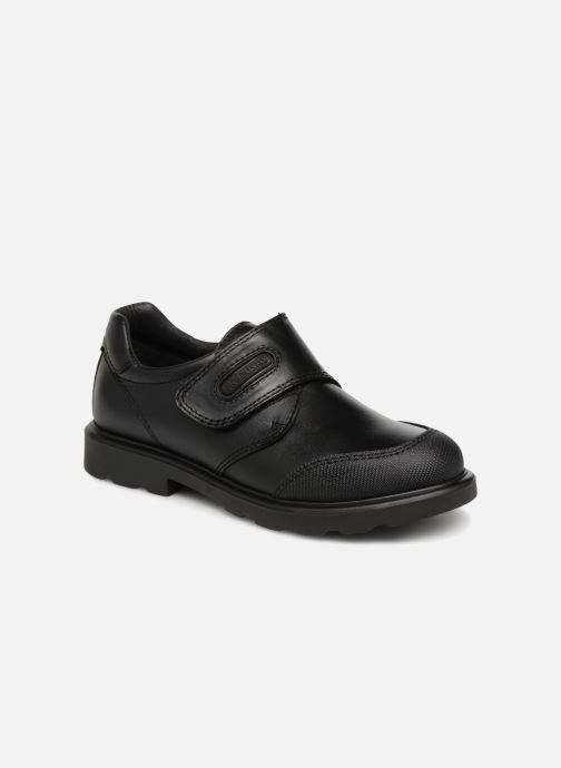 Velcro shoes Pablosky Mariano Black detailed view/ Pair view