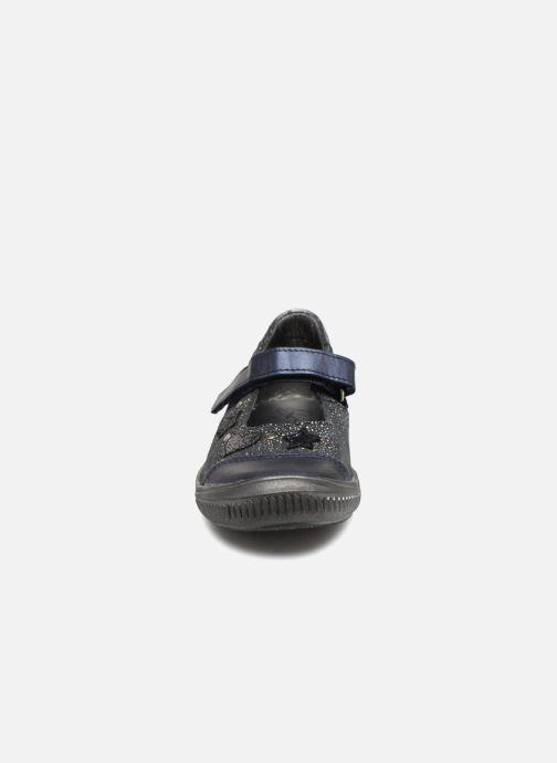 Ballerines Bopy Sioba Bleu vue portées chaussures