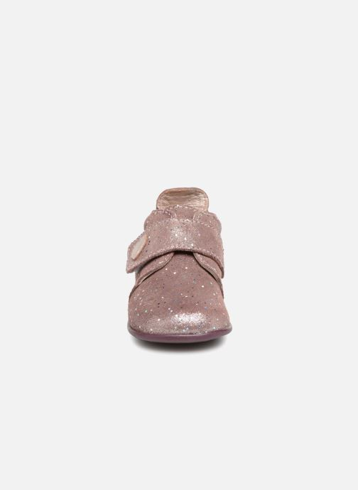Chaussons Bopy Prudence Rose vue portées chaussures