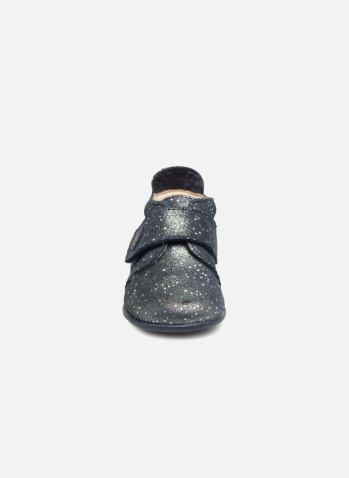 Chaussons Bopy Prudence Bleu vue portées chaussures