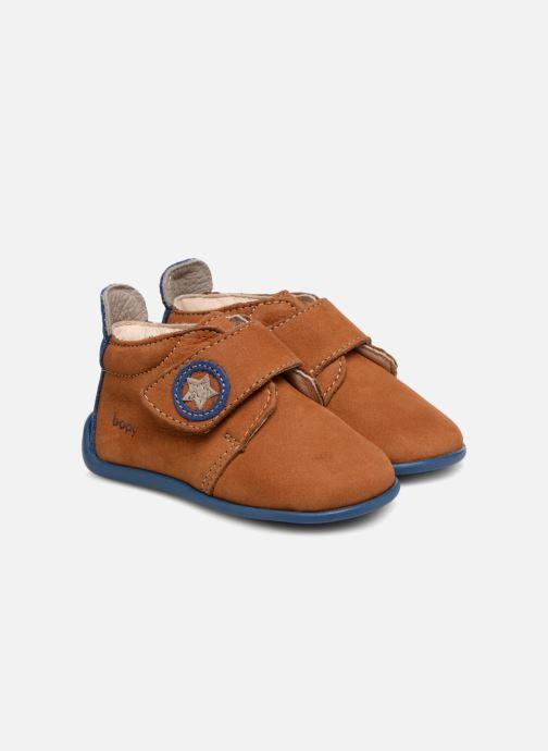 Hjemmesko Bopy Pavelo Brun detaljeret billede af skoene
