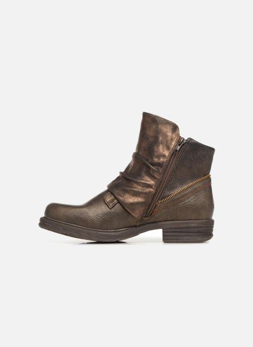 Bottines et boots Dockers Klea Or et bronze vue face