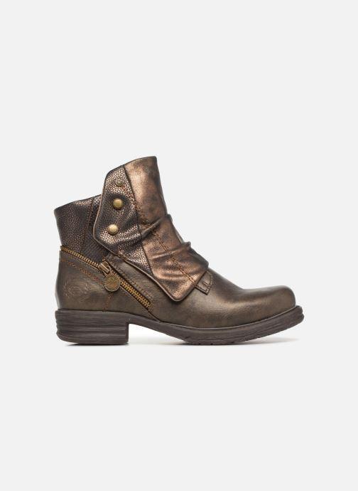 Bottines et boots Dockers Klea Or et bronze vue derrière