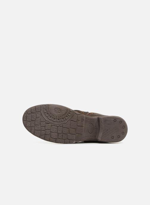 Bottines et boots Dockers Klea Or et bronze vue haut