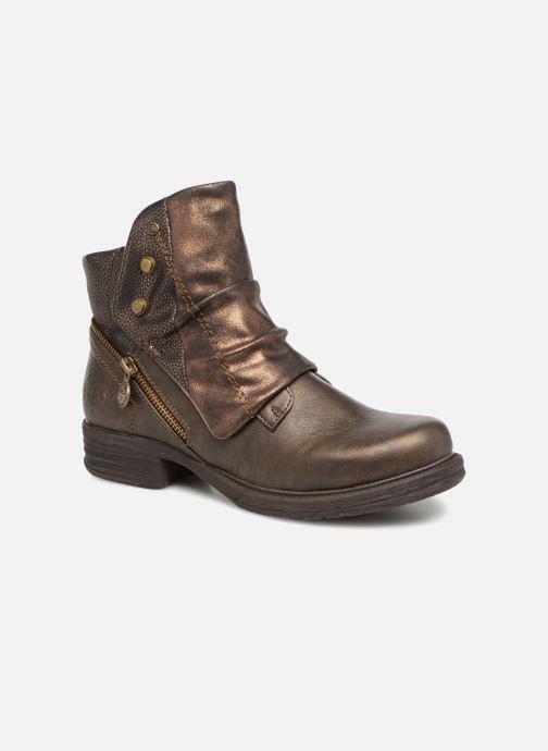 Bottines et boots Dockers Klea Or et bronze vue détail/paire