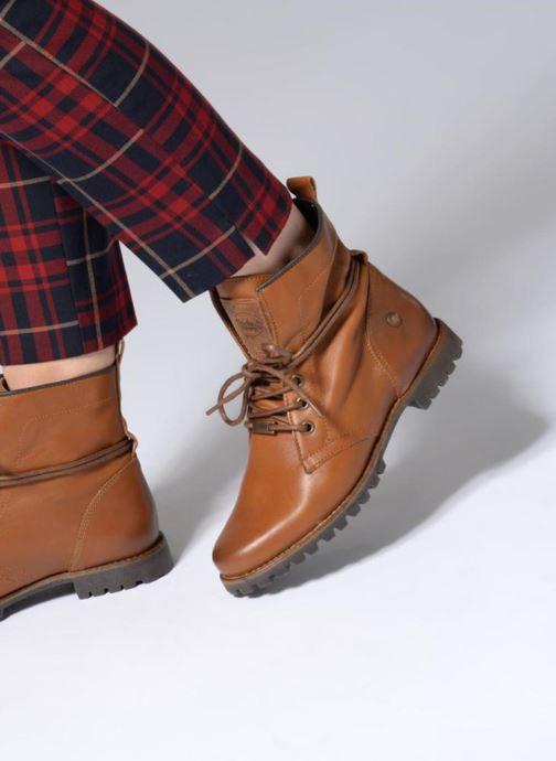 Bottines et boots Dockers Alina Marron vue bas / vue portée sac