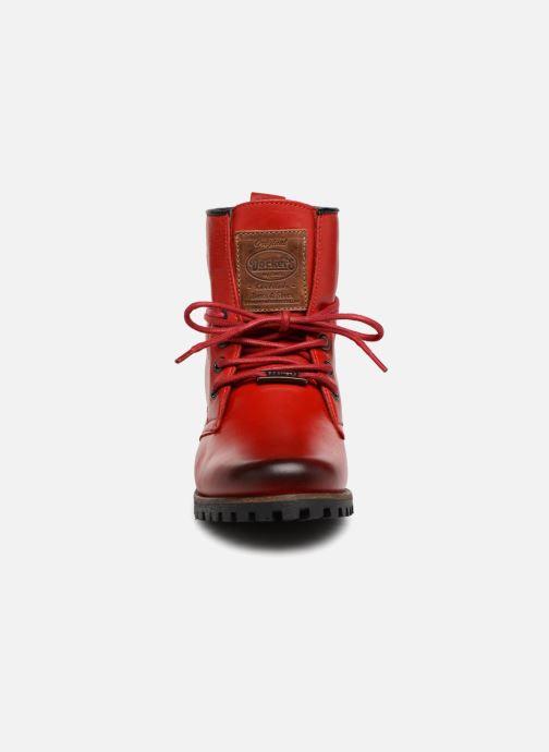 Bottines et boots Dockers Alina Rouge vue portées chaussures