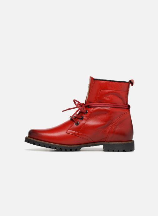 Bottines et boots Dockers Alina Rouge vue face