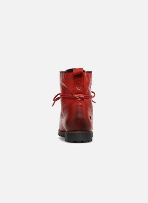 Bottines et boots Dockers Alina Rouge vue droite
