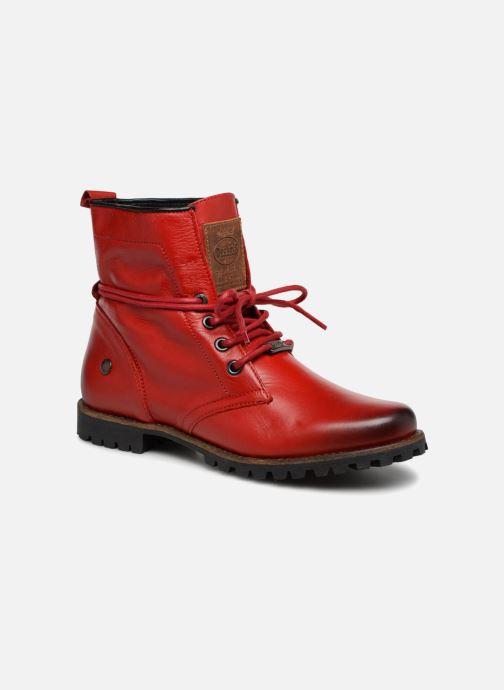 Bottines et boots Dockers Alina Rouge vue détail/paire