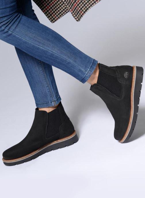 Bottines et boots Dockers Greta Noir vue bas / vue portée sac