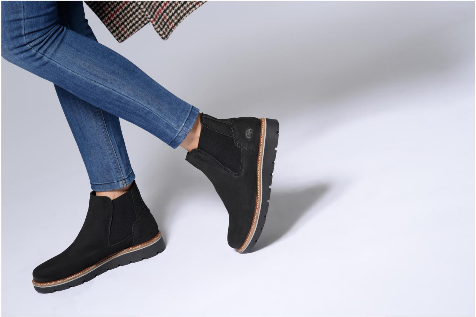 Ankle boots Dockers Greta Black view from underneath / model view