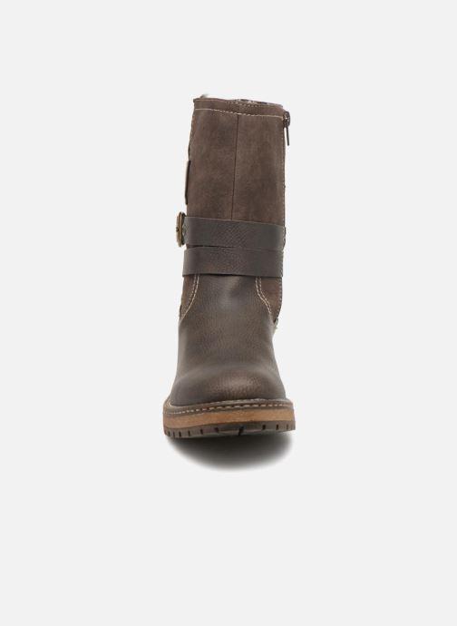 Bottines et boots Dockers Hanne Marron vue portées chaussures