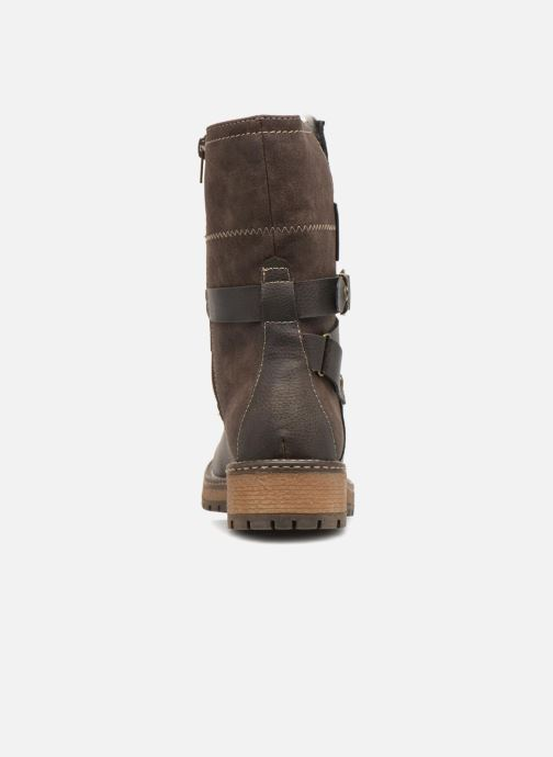 Ankle boots Dockers Hanne Brown view from the right