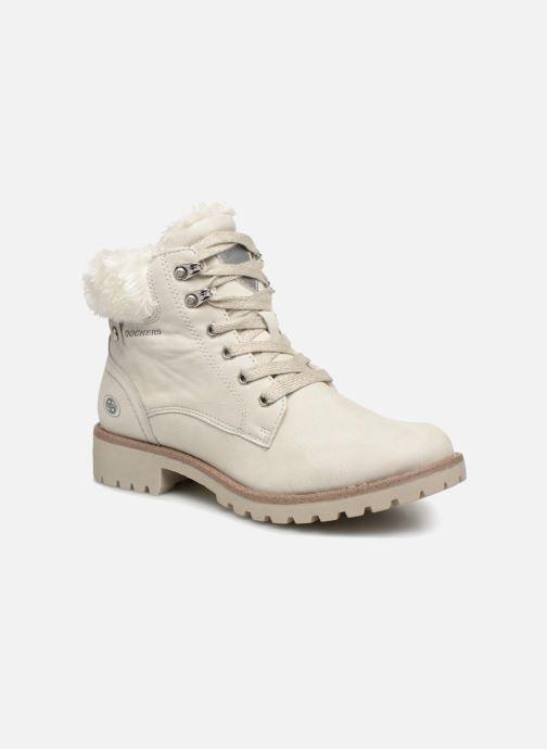 Bottines et boots Dockers Elena Blanc vue détail/paire
