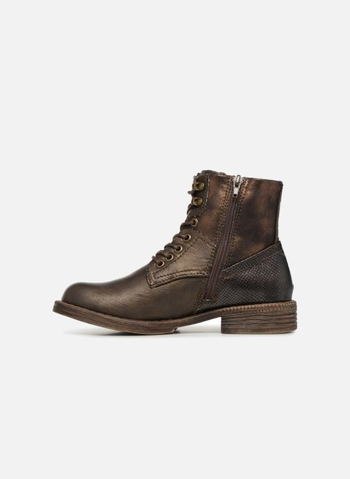 Bottines et boots Dockers Irene Or et bronze vue face