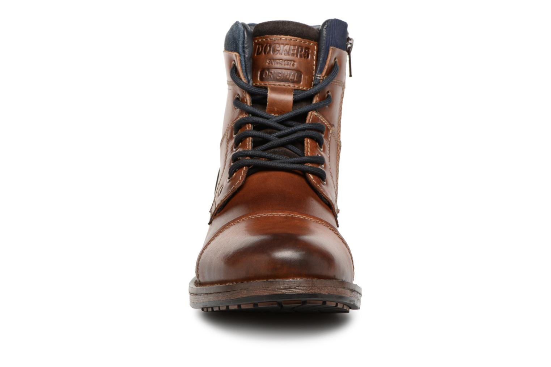 Bottines et boots Dockers Felix Marron vue portées chaussures