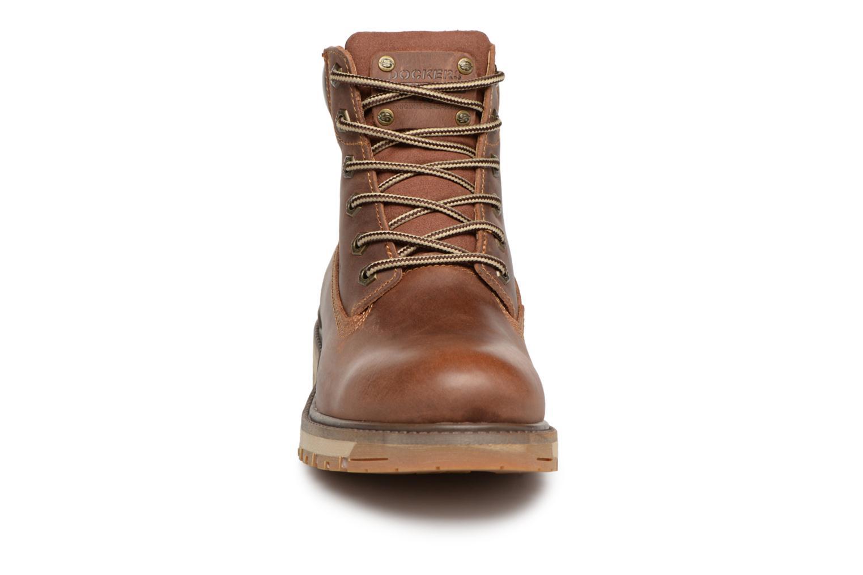 Bottines et boots Dockers Seb Marron vue portées chaussures