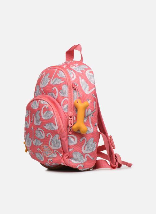 Skoletasker Stones and Bones LAUREL Pink se skoene på