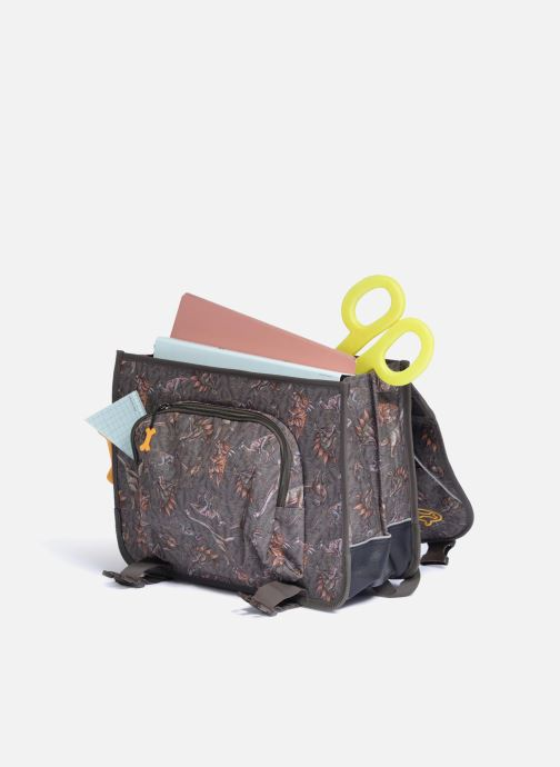 School bags Stones and Bones CEDAR 40,5cm Brown back view