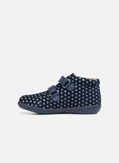 Baskets Agatha Ruiz de la Prada Butterfly S dots Bleu vue face