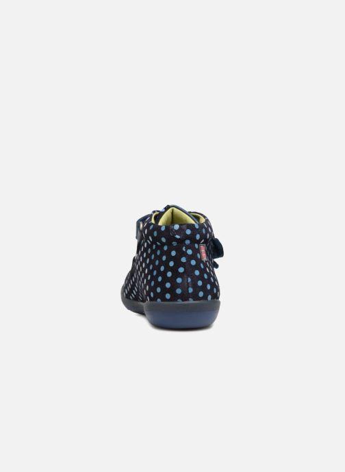 Baskets Agatha Ruiz de la Prada Butterfly S dots Bleu vue droite