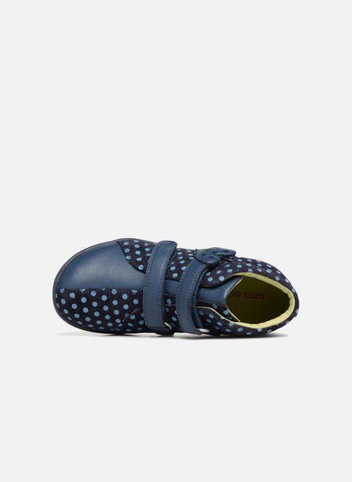 Baskets Agatha Ruiz de la Prada Butterfly S dots Bleu vue gauche