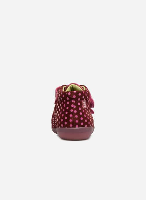 Baskets Agatha Ruiz de la Prada Butterfly S dots Rose vue droite