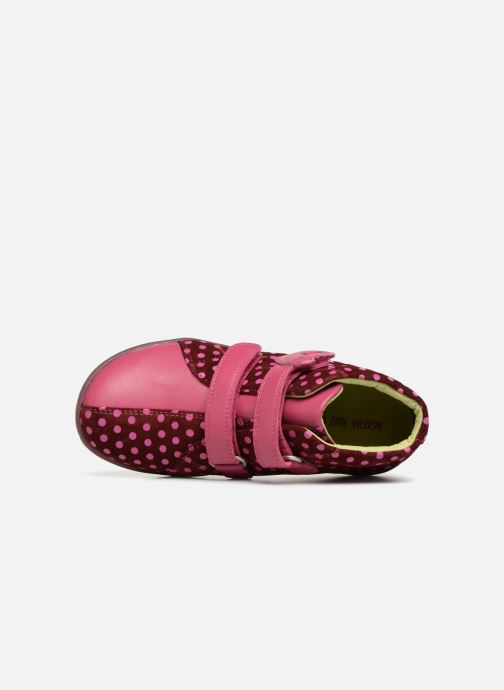 Trainers Agatha Ruiz de la Prada Butterfly S dots Pink view from the left