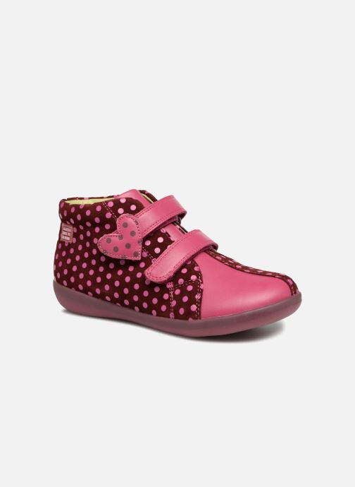 Trainers Agatha Ruiz de la Prada Butterfly S dots Pink detailed view/ Pair view