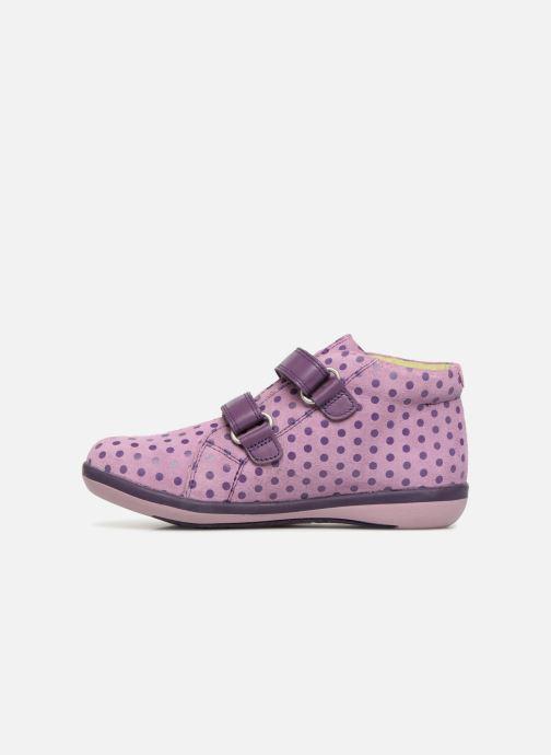 Baskets Agatha Ruiz de la Prada Butterfly S dots Violet vue face