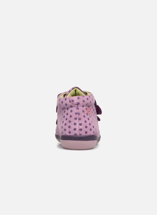 Baskets Agatha Ruiz de la Prada Butterfly S dots Violet vue droite