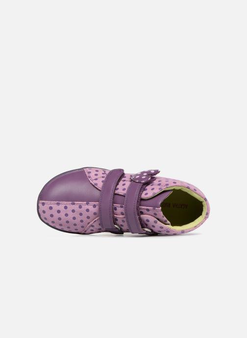 Baskets Agatha Ruiz de la Prada Butterfly S dots Violet vue gauche