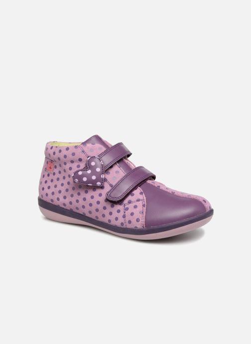 Baskets Agatha Ruiz de la Prada Butterfly S dots Violet vue détail/paire