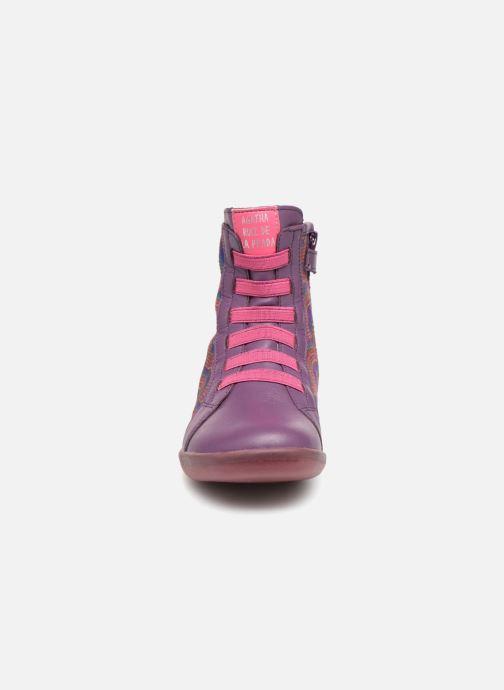 Bottines et boots Agatha Ruiz de la Prada Butterfly B rainbow Violet vue portées chaussures