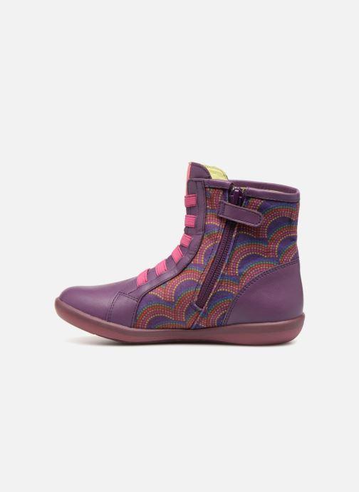 Boots en enkellaarsjes Agatha Ruiz de la Prada Butterfly B rainbow Paars voorkant
