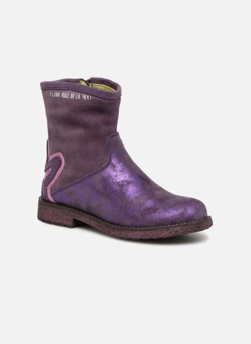 Ankle boots Agatha Ruiz de la Prada Vagabunda 3 Purple detailed view/ Pair view