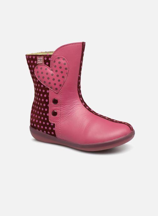 Støvler & gummistøvler Agatha Ruiz de la Prada Butterfly B dots Pink detaljeret billede af skoene