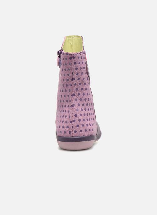Botas Agatha Ruiz de la Prada Butterfly B dots Violeta      vista lateral derecha