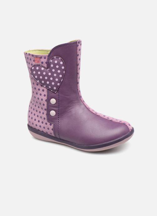Bottes Agatha Ruiz de la Prada Butterfly B dots Violet vue détail/paire
