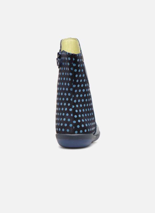 Stiefel Agatha Ruiz de la Prada Butterfly B dots blau ansicht von rechts