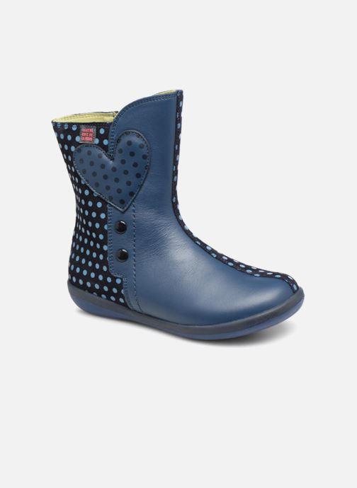 Bottes Agatha Ruiz de la Prada Butterfly B dots Bleu vue détail/paire