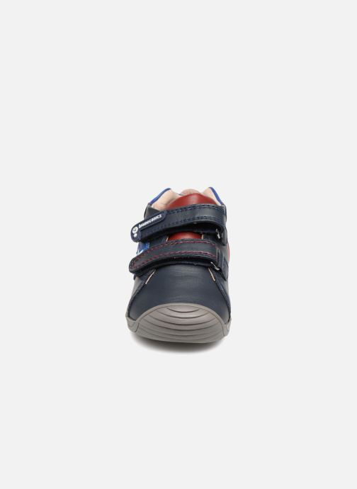 Baskets Biomecanics Capitan Bleu vue portées chaussures