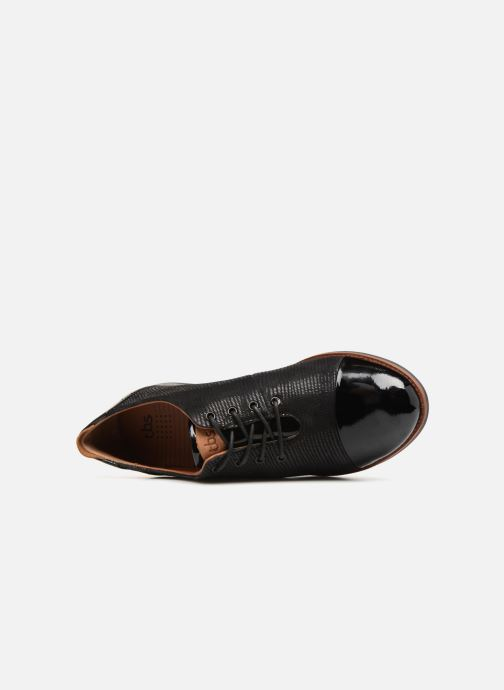Zapatos con cordones TBS Missies Negro vista lateral izquierda