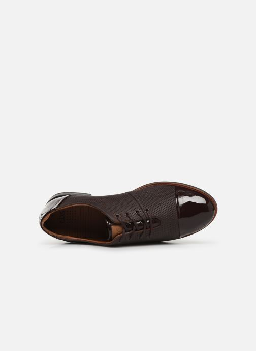 Lace-up shoes TBS Missies Brown view from the left